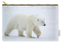Polar Bear Ursus Maritimus Walking Carry-all Pouch by Panoramic Images