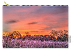 Illinois Prairie Moments Before Sunrise Carry-all Pouch