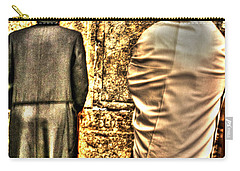 Carry-all Pouch featuring the photograph Praying At The Western Wall by Doc Braham
