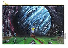Carry-all Pouch featuring the painting Quantum Dementia by Ryan Demaree