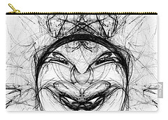 Carry-all Pouch featuring the digital art Queen Of Hearts by Jane McIlroy