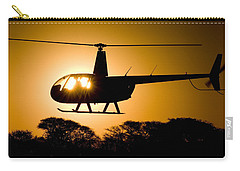 Carry-all Pouch featuring the photograph R44 Sunset by Paul Job