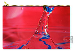 Carry-all Pouch featuring the photograph Rainbow Drop by Peter Lakomy