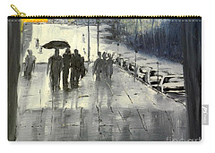 Rainy City Street Carry-all Pouch by Pamela  Meredith