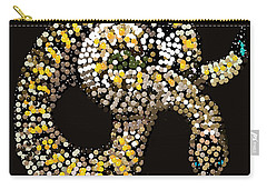 Rattlesnake Bedazzled Carry-all Pouch