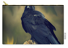 Carry-all Pouch featuring the photograph Raven by Yulia Kazansky