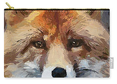 Red Fox Carry-all Pouch by Dragica  Micki Fortuna