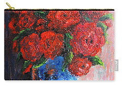 Carry-all Pouch featuring the painting Red Scent by Vesna Martinjak