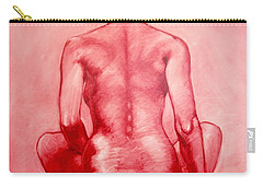 Red Carry-all Pouch by Thomas Valentine