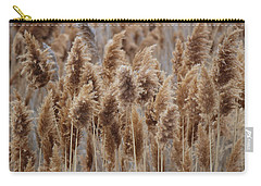 Wind Blown Redish Brown Plants Carry-all Pouch