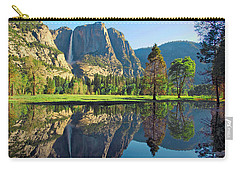 Reflections Of Yosemite Falls Carry-all Pouch by Lynn Bauer