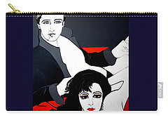 Carry-all Pouch featuring the painting Relax  Lets Watch A Movie by Nora Shepley