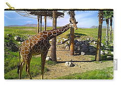 Carry-all Pouch featuring the photograph Reticulated Giraffe by Chris Tarpening