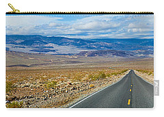 Road Passing Through A Desert, Death Carry-all Pouch by Panoramic Images
