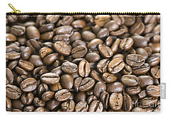 Carry-all Pouch featuring the photograph Roasted Coffee Beans by Lee Avison