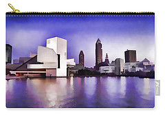 Carry-all Pouch featuring the photograph Rock And Roll Hall Of Fame - Cleveland Ohio - 3 by Mark Madere