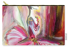 Carry-all Pouch featuring the painting Rose Bud Ballet by Judith Desrosiers