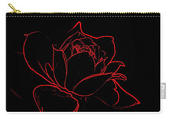 Carry-all Pouch featuring the digital art Rose by Ludwig Keck