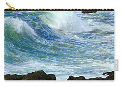 Carry-all Pouch featuring the photograph Rough Seas by Mariarosa Rockefeller