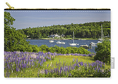 Round Pond Lupine Flowers On The Coast Of Maine Carry-all Pouch