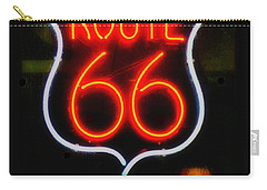 Route 66 Edited Carry-all Pouch by Kelly Awad