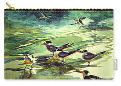 Royal Terns And Black Skimmers Carry-all Pouch