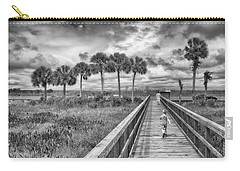 Carry-all Pouch featuring the photograph Running by Howard Salmon