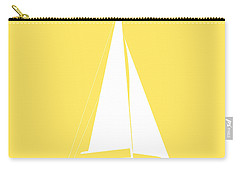 Sailboat In Yellow And White Carry-all Pouch