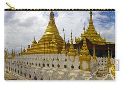 Carry-all Pouch featuring the photograph Sandamuni Pagoda Mandalay Burma by Ralph A  Ledergerber-Photography
