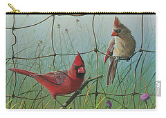 Carry-all Pouch featuring the painting Scarlet by Mike Brown