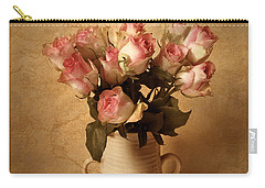 Pink Rose Carry-all Pouches