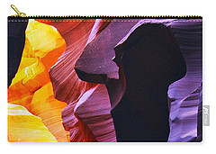 Carry-all Pouch featuring the photograph Somewhere In America Series - Antelope Canyon by Lilia D