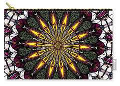 Stained Glass Kaleidoscope 1 Carry-all Pouch by Rose Santuci-Sofranko