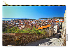 stairway and ancient walls in Carloforte Carry-all Pouch