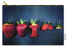 Strawberries Carry-all Pouch by Joana Kruse