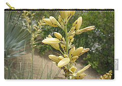 Carry-all Pouch featuring the photograph 1 String Flowers    Photographed Las Vegas May 2014 by Navin Joshi