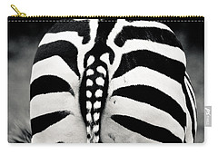 Striped Rear View Carry-all Pouch