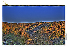 Carry-all Pouch featuring the photograph Sun On The Hills by Jonny D