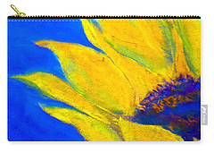 Sunflower In Blue Carry-all Pouch