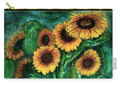 Sunflowers Carry-all Pouch by Jasna Dragun