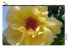 Sunny Yellow Rose Carry-all Pouch