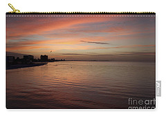 Carry-all Pouch featuring the photograph Sunrise Over Fort Myers Beach Photo by Meg Rousher