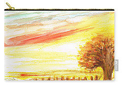 Carry-all Pouch featuring the painting Sunset by Teresa White