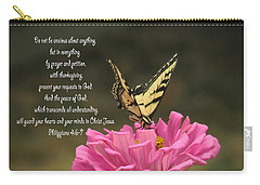 Swallowtail On A Zinnia Carry-all Pouch