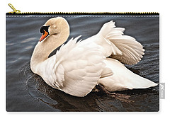 Carry-all Pouch featuring the photograph Swan One by Elf Evans