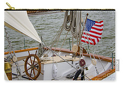 Tall Ship Wheel Carry-all Pouch by Dale Powell