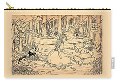 Carry-all Pouch featuring the drawing Tammy And The Baby Hoargg by Reynold Jay