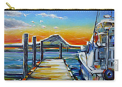 Carry-all Pouch featuring the painting Tauranga Marina 180412 by Selena Boron