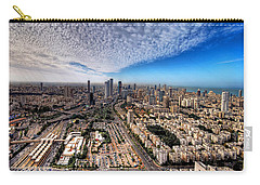 Carry-all Pouch featuring the photograph Tel Aviv Skyline by Ron Shoshani