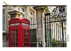Telephone Box In London Carry-all Pouch by Elena Elisseeva